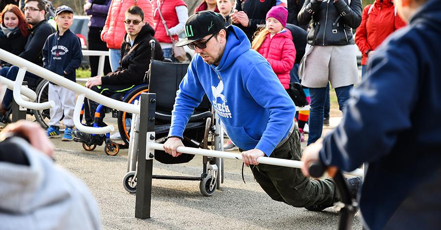 workoutové hriště pro vozíčkáře