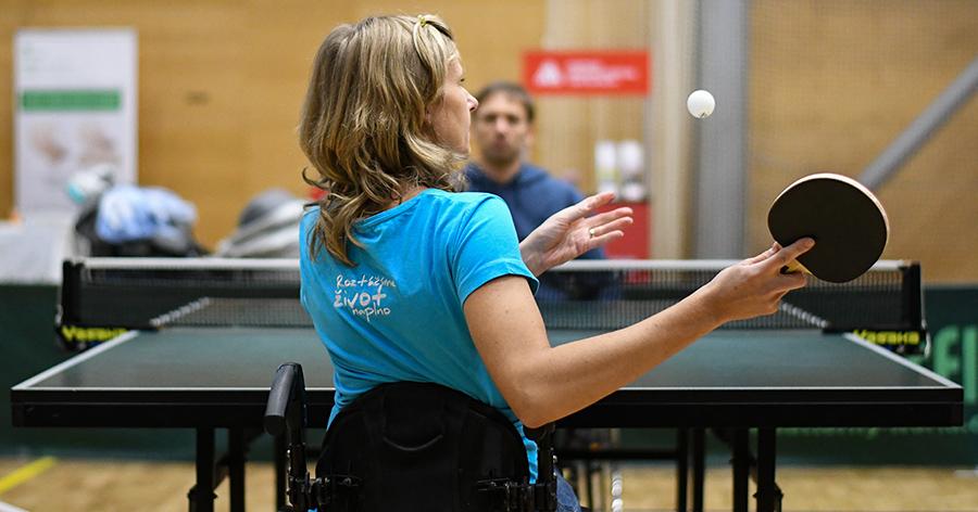 stolní tenis vozíčkářů